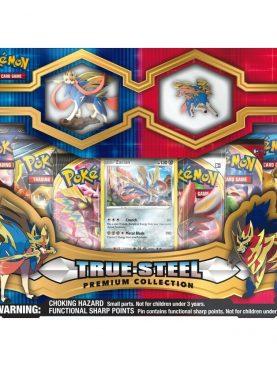 Pokemon TCG - True Steel Premium Figure & Pin Zacian Collection Box