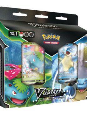 Pokemon TCG - Blastoise V & Venusaur V Battle Deck Bundle