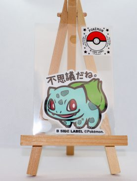 Pokemon B-SIDE Label Bulbasaur Sticker 001