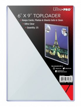 Ultra Pro - 6 x 9 Inch Toploaders [25x] for Postcards, Photo, Big Cards